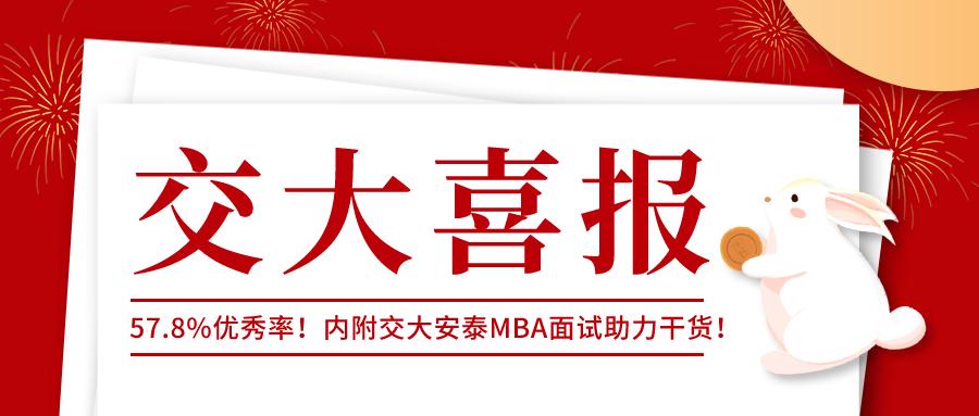 【喜报】恭喜交大安泰MBA第四批学员喜提优秀线!(内附面试真题)